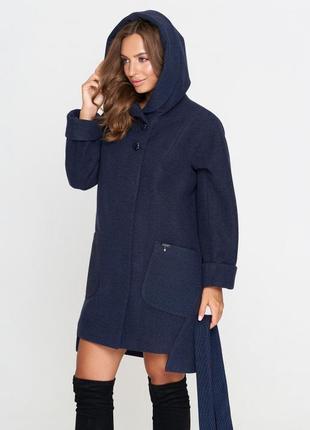 Пальто belanti 703 темно-синий цвет