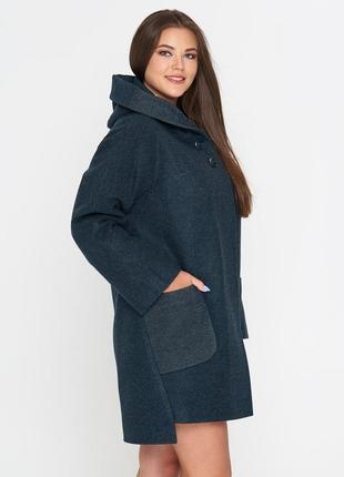 Пальто belanti 703 изумрудный цвет