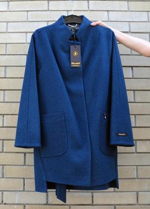 Пальто шерстяное belanti 173 изумрудный цвет