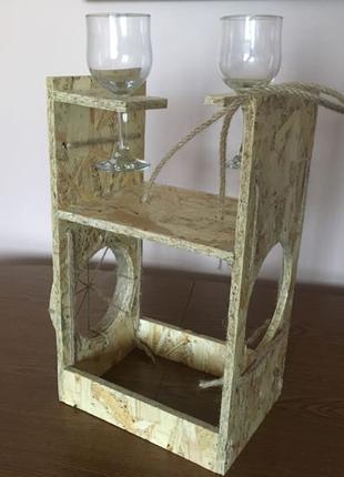 деревяна підставка для алкоголю
