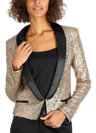 Пиджак в золотые пайетки
