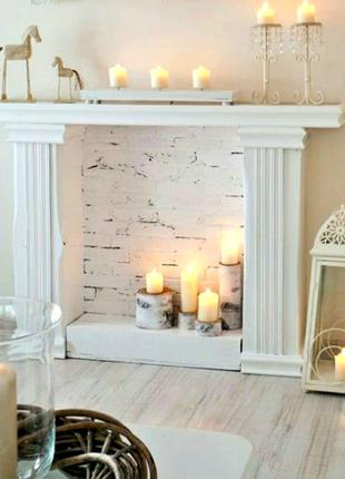 Каминный портал,гипсовый камин, декоративный гипсовый портал, к19
