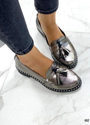Туфли женские кожа с кистью lelo