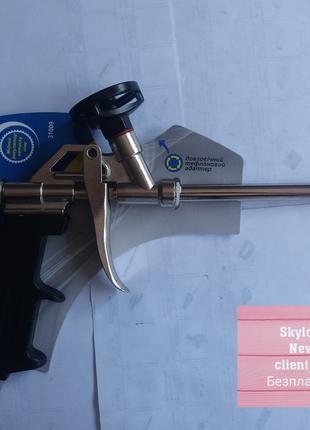 Пистолет для монтажной пены тефлоновый адаптер ( Свитязь3109)