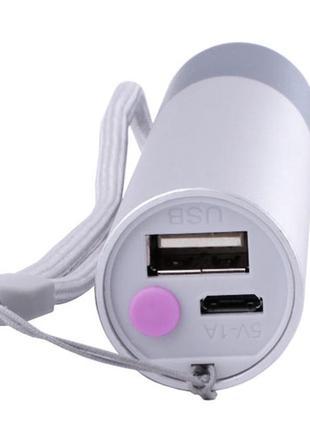 Фонарик D02 micro USB зум
