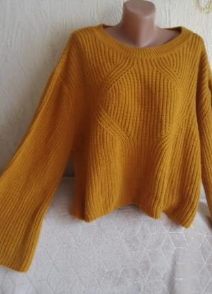 Стильный свитер горчично/оранжевый, оверсайз, primark