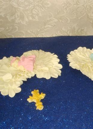 """Набір цукрових фігурок для Хрещення """"Немовля у крилах ангела"""""""