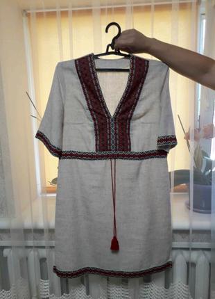 Льяное платье Вышиванка