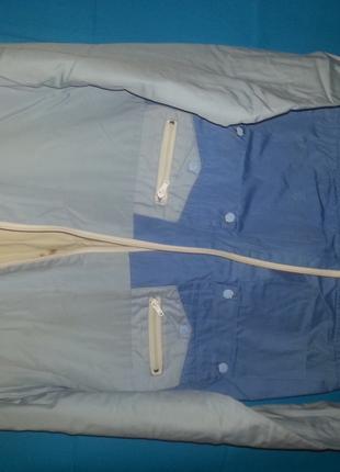 Куртка мужская плащевая, цвет - голубая, комбинированная