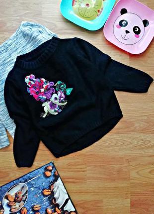 Детский идеальный теплый мягкий брендовый свитер для девочки n...