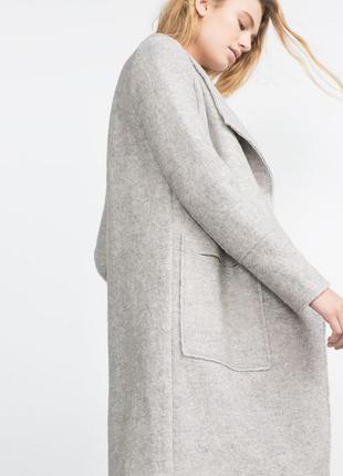 Сіре пальто-кардіган