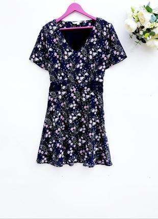 Шикарное платье миди цветочное платье миди с пояском