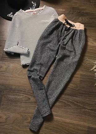 Серые спортивные штаны m-s