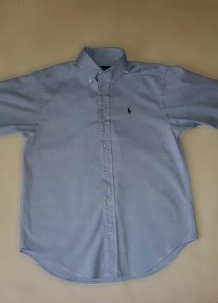 Рубашка  Ralph Lauren голубая