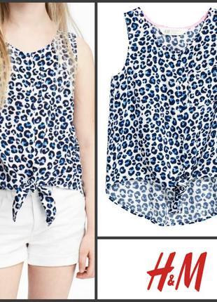 Рубашка топ блуза летняя без рукавов от h&m