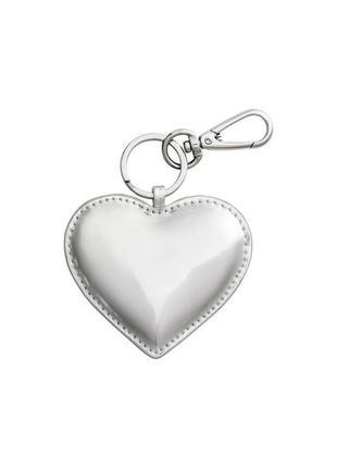 Брелок для ключей или на сумку серебряное сердце от h&m