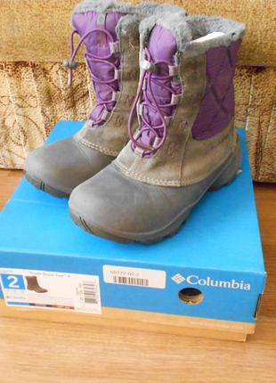 Зимние термо  ботинки Columbia 33р