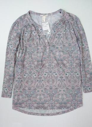 Блуза топ лонгслив реглан свободного силуэта цвет пудры размер...