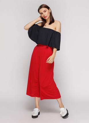 Кюлоты брюки красные вershka торг