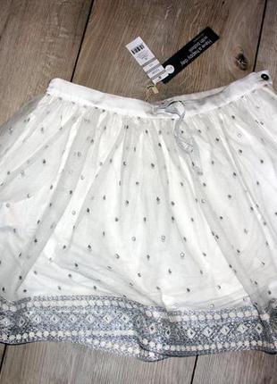 Распродажа шикарная белая пышная юбка boboli англия на 16 лет