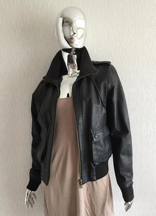 Кожаная куртка бомбер south