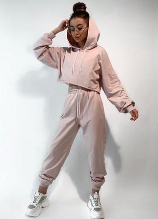 Спортивный костюм женский с топом свободного кроя