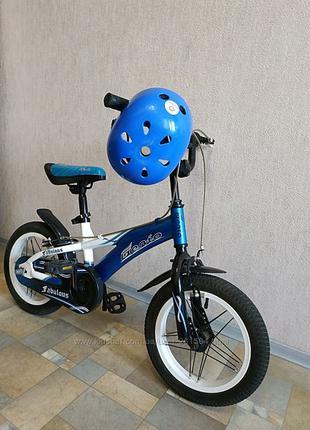 """Велосипед детский 2х колесный 14"""" + шлем в подарок"""