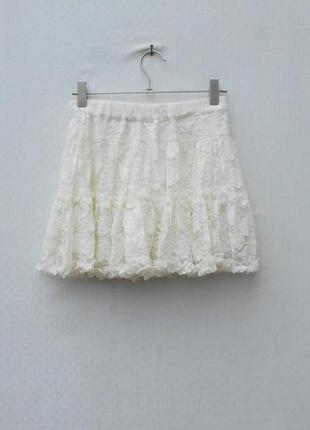 Кружевная нарядная пышная юбка