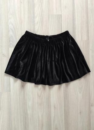 Красива чорна спідничка у школу юбка девочке для школи