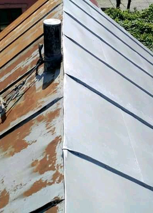 Фарбування дахів, ангарів. Покраска криш