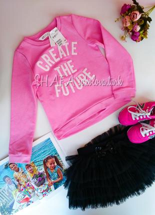 Розовый свитшот свитер худи джемпер хлопок от h&m