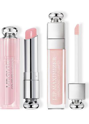 Набор dior duo lip glow   lip max