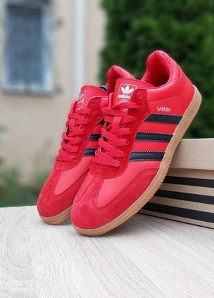 Adidas samba red мужские кроссовки адидас красные 41-46