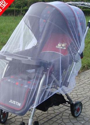 Москитная сетка для коляски прогулочной и люльки
