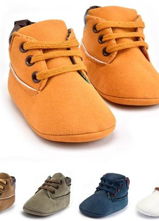 Пинетки обувь для новорожденных детская весна осень демисезонн...