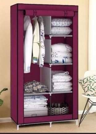 Тканевый Шкаф Органайзер для одежды и обуви на 2 секции из ткани
