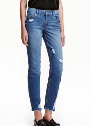 Джинсы джинсики с потертостями 40 евро от h&m