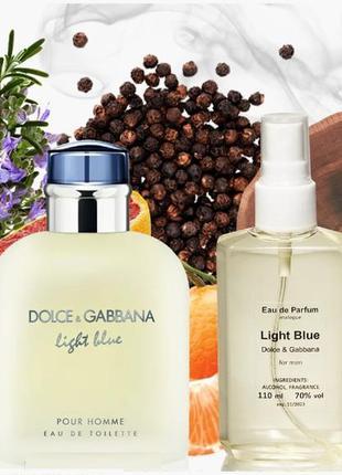 Мужская парфюмированная вода 110 мл аналог d&g light blue pour...