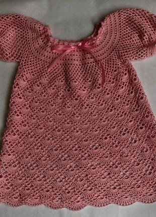 Сукня для дівчинки гачком