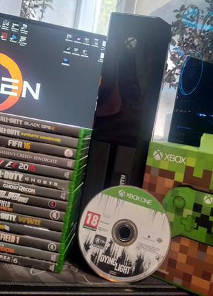 Xbox one 500gb + 1 геймпад + 15игр