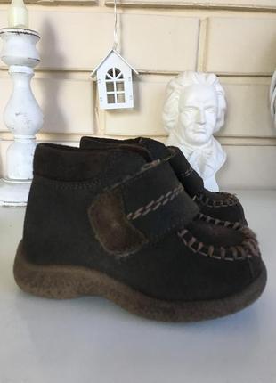 Нубуковые ботинки siesta shoes 19 размер