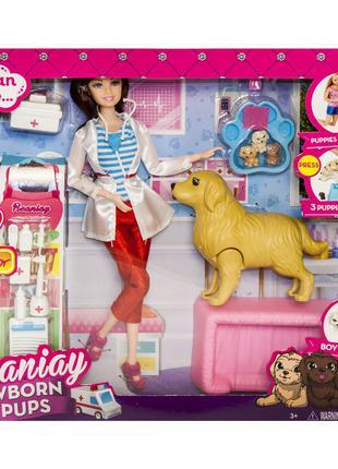 "Кукла ветеринар ""Newborn Pups"", белая (CS 699-15)"