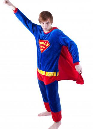 Костюм Пижама Кигуруми Домашняя Одежда Супермен Супергерой