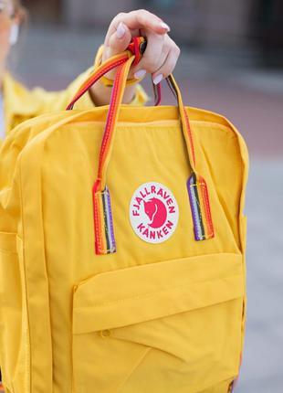 Рюкзак fjallraven kanken rainbow yellow купить фьялравен канке...
