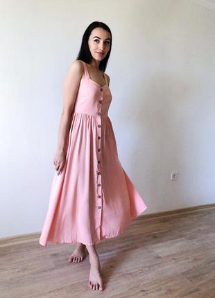 Платье сарафан на пуговках💜