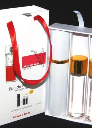Набор armand basi in red с феромонами в подарочной упаковке 45 мл