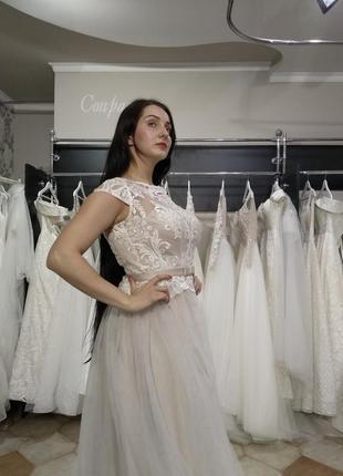 Распродажа! вечернее нарядное платье капучино