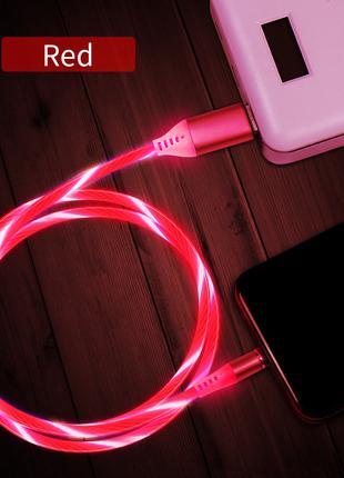 Магнитный неоновый модный кабель 3 в 1 для зарядки Iphone, Androi