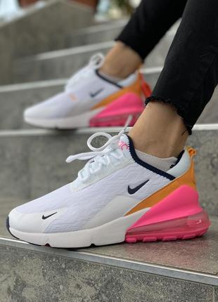 Шикарные женские кроссовки nike air max 270 белые