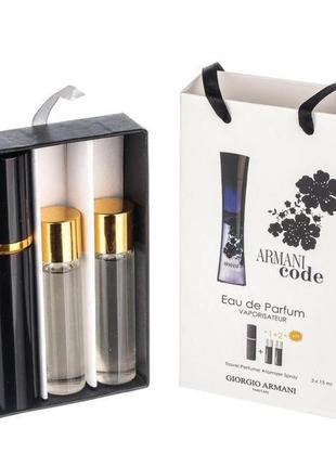 Набор giorgio armani code woman с феромонами в подарочной упак...